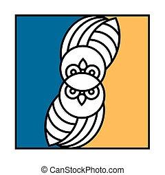 Owl icon - conceptual emblem owl