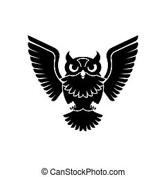 Owl icon. Eagle-owl bird sign. vector illustration