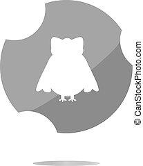 Owl - icon isolated . Flat sign isolated on white background