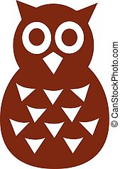 Owl icon with big eyes