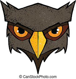 Owl illustration - Cartoon owl illustration with color and...