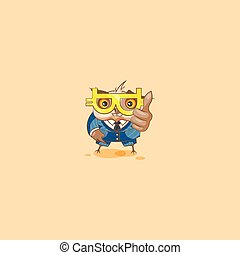 owl in business suit with glasses