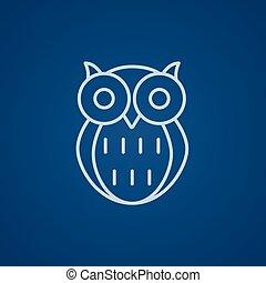 Owl line icon.