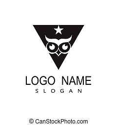 Owl Logo Template Vector Illustration