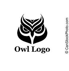 Owl logo vector template