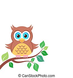 Owl on the branch