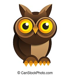Owl On White Background Vector For Your Design.