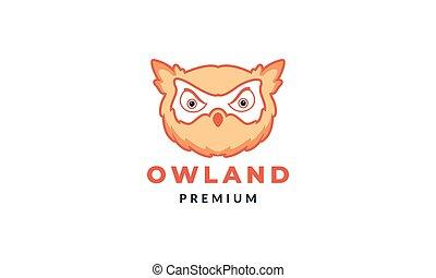 owl or owlet head modern cute colorful logo vector illustration design