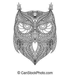 Owl outline silhouette