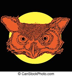 Owl Spirit cartoon character design