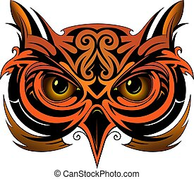 Owl tattoo shape