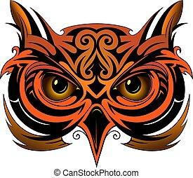 Owl tattoo shape