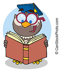 Owl Teacher Cartoon Character