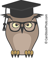 Owl teacher - Creative design of owl teacher