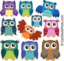 Owl theme collection 1