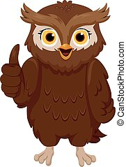 Owl Thumbs Up