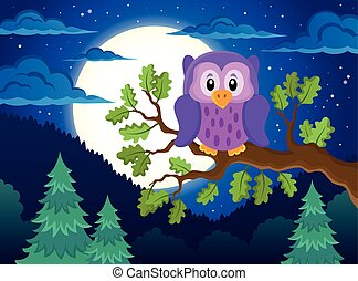 Owl topic image 1 - eps10 vector illustration.