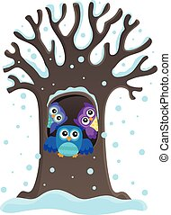 Owl tree theme image 1
