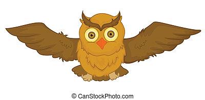 Owl Vector Cartoon Illustration