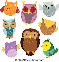owl vector collection design