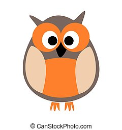 Owl vector illustration isolated on white background