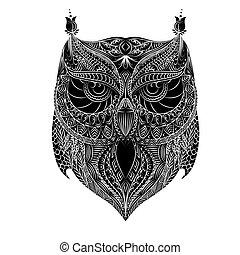 Owl white brush