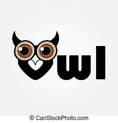 owl-, wijsheid, symbool