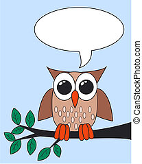 owl with a message