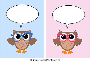 owl with a speech bubble