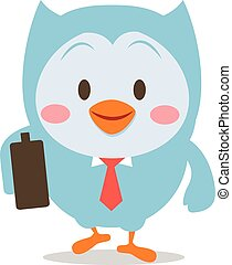 Owl with bag character vector