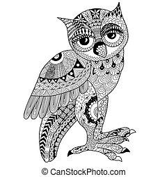 owl zentangl