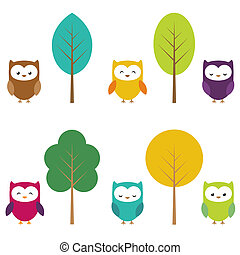 Owls and trees