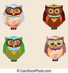 owls., différent