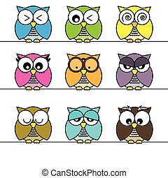 Owls icons