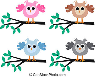 owls - four different owls