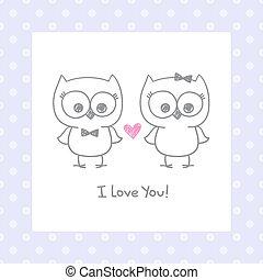 owls in love