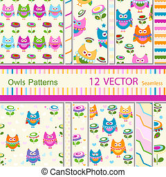 owls patterns