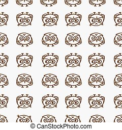 owls seamless pattern 1 - Cute seamless pattern with little...