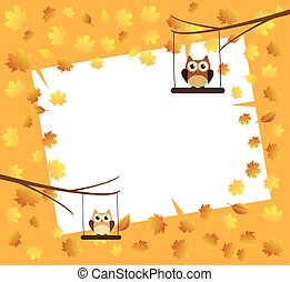 Owls - vector owls swinging