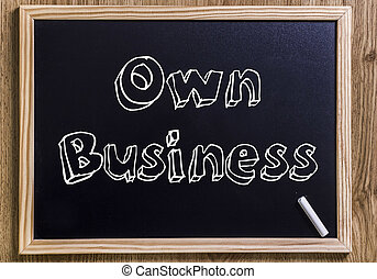 Own Business - New chalkboard with 3D outlined text