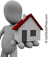 Own Property - Figure promoting the idea of own house...