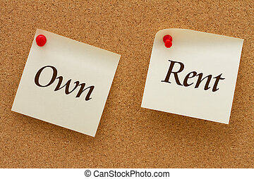 Own versus Rent