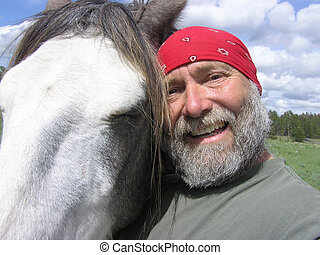 Owner being silly with horse