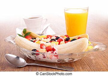 owoc, banan, sałata, ułamkowy