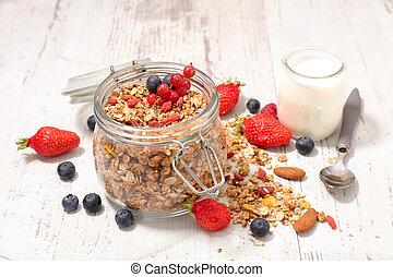 owoc, granola, swojski, jagoda