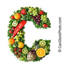 owoc, i, roślina, alfabet