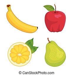 owoc, komplet, połyskujący