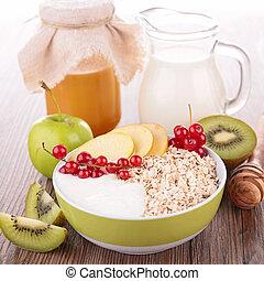 owoc, mleczny, zboże