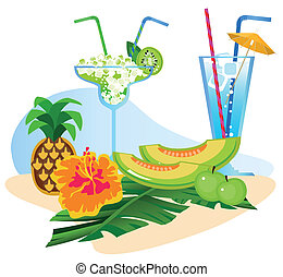 owoce, cocktaili