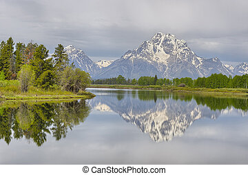 Oxbow Bend in early morning light, Grand Teton National Park